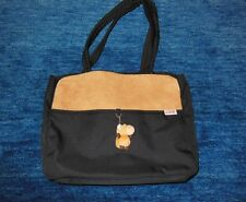 Nici Plüsch Tasche, Umhängetasche, Shopper mit Plüschpferd, schwarz / braun