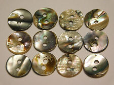 Abalone Buttons 12mm Set of 12 Natural Antique Collectible Buttons