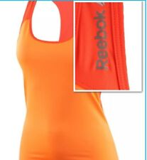 Reebok Tank Vest Fitted Raceback Top Workout Ready Gym Run Les Mills Training S