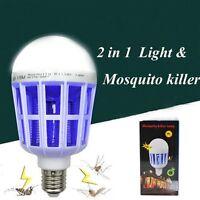 Mode E27 LED Anti Moustiques Ampoule Lampe Mouche Insectes de Nuit Tueur