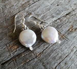 EXCLUSIVE - FRESH WATER PEARL & STERLING SILVER EARRINGS - Jewellery FREE POST