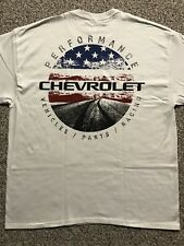 Chevrolet Performance Racing Corvette Camaro White T Shirt XL USA Open Road New
