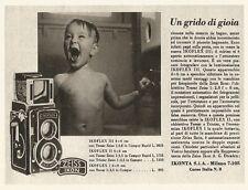 W2695 ZEISS IKON Ikoflex III - Un grido di gioia... - Pubblicità del 1940 - Ad