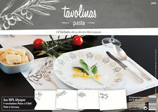 Tischsets Platzsets Pasta 24 Blatt Block Mediterran Olive Nudel placemat Italien