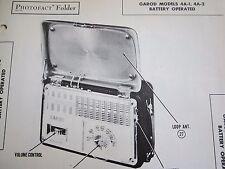 GAROD 4A-1 & 4A-2 RADIO PHOTOFACT