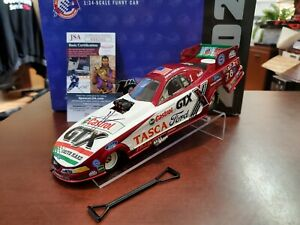 2002 John Force 11 Time Champion Autograph w/JSA COA 1:24 NHRA Funny Car MIB