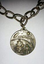 Vintage Constantino Affer Apollo 11 Medal Medallion RARE straight text variation