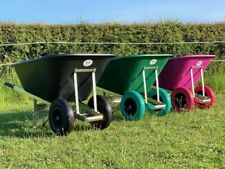 More details for puncture proof ox wheelbarrow 120l 160l 200l garden stable foam tyres twin big