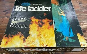 Vtg NIOB All Strong Steel Instant Fire Escape Life Ladder 2 Story 15' Treehouse