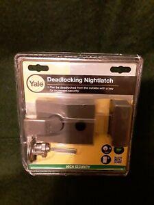 Yale P89 Deadlocking Nightlatch DMG Satin Chrome Cylinder 60mm Set HIGH SECURITY