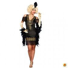 Charleston Kostüm Flappy S- XXL Kleid schwarz/gold 20s Jahre Mottoparty Fasching