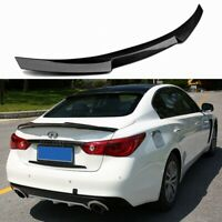 Carbon Fiber Rear Trunk Boot Spoiler Wing For Infiniti Q50 Q50S Sedan 14-19 OEM