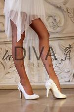 MENBUR ~Luxus Pumps mit Strass,Glasperlen & Stickerei Ivory 36 Brautschuhe Leder