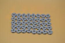 LEGO 40 X PIASTRA 2x2 TONDO neuhell Grigio | newlight Grey circle plate 4032