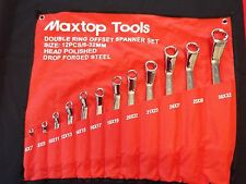 MAX TOP TOOLS - 12 PIECE METRIC DOUBLE RING OFFSET  SPANNER SET - 6MM - 32MM