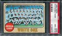 1968 Topps #424 White Sox Team Card PSA 8 NM-MT