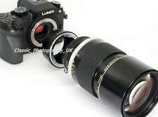 NIKON F Olympus OM-D Panasonic LUMIX Micro 4/3 Adapter NIKKOR Lens on MICRO 4/3