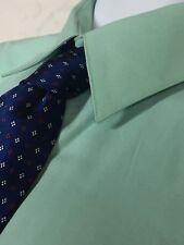 Mens Valerio Garati Fitted Teal Dress Shirt Size XL 17.5/35 Long Sleeve + Tie