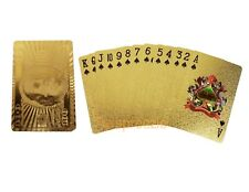 $100 Bill Gold Playing Cards 24k Foil Plated Full Deck Poker Benjamin Franklin 3