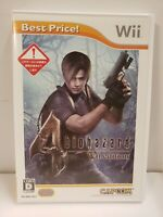 Biohazard 4 Resident Evil Nintendo Wii Japan Import NTSC J COMPLETE FREE SHIPP
