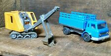 2 LOT WIKING 1:87 HO SCALE 1960s Ford Chevy GMC STAKE BODY TRUCK & Bucket Dirt