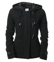AERO Aeropostale Solid Peacoat Toggle Pea Winter Coat Jacket Black XS,S  NWT NEW
