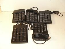 Lot of 5 Targus External USB Keyboard for Desktop , Computer , or Laptop W/ USB