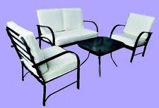 SalottIno da esterno in metallo completo di tavolino,2 poltrone e divano