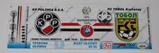 Ticket for collectors EC Polonia Warszawa  Tobol Kostanay 2003 Poland Kazakhstan
