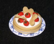 STRAWBERRY SHORT CAKE 1:12 Scale Dollhouse Miniatures Dessert Kitchen Party