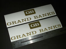 "Grand Banks Yachts Gold Decal 12"" Stickers (Pair)"