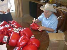 Jake LaMotta Signed Everlast Boxing Glove Psa/Dna Coa L Auto'd Raging Bull Red
