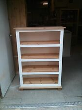 OLD MILL ARIZONA COUNTRY 120 CM BOOKCASE CREAM WITH PINE TRIM NO FLAT PACKS