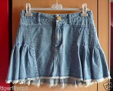 Korte jeans rok met plooien Maat M