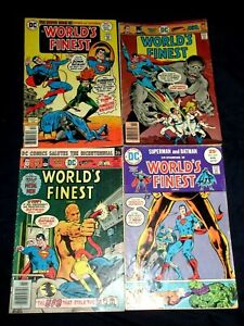 WORLD'S FINEST #229,239,241,242 (VG/FN) Batman! Superman! 4 Issues! DC 1975/76