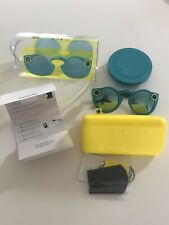 snapchat spectacles Glasses Teal/ Turquoise With Case And Cable Vgc