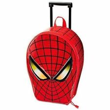 Disney Spiderman Rolling Luggage Suit Case + 4 Coloring & Activity Books