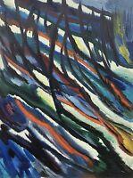 ABSTRAKTE KOMPOSITION #4 UNSIGNIERT FIFTIES SIXTIES 80 x 60 - MODERN ART - LOFT