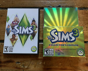 The Sims 3: Collector's Edition (Windows/Mac, 2009) With Original Box TESTED
