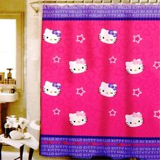"""Hello Kitty"" By Sanrio PEVA Shower Curtain w/Cute Star Shapes"