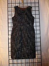 ann taylor (loft ) petite sleevless  black & white 8P dress