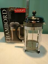 Bodum Chambord French Press Glass & Stainless Steel 12 Cup New Open Box