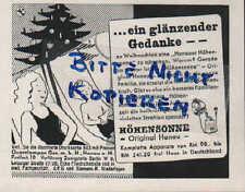 """HÖHENSONNE-Original Hanau, Werbung / Anzeige 1935, """"Das ganze Jahr Sonne"""""""