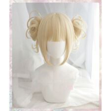 My Boku no Hero Academia Himiko Toga Light Blonde Ponytail Cosplay Wig + Cap