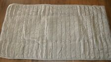 Pottery Barn Silk Cotton Channel Quilted Two-Toned King Pillow Sham Brownstone