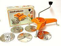 Moulinex Mouli-Julienne Vintage Slicer Shredder Grater 5 Discs France No. 445