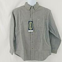 Rivers End Trading Co Mens Shirt Sz S Long Sleeve Denim Plaid Casual Button Down