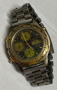 Men's Dakota Watch Dual Time Chronograph Analog/Digital New Battery Engraved