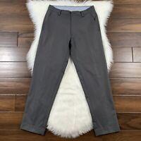 Footjoy Men's Size 30 Gray Stretch Golf Pants Slacks Polyester Blend Flat Front