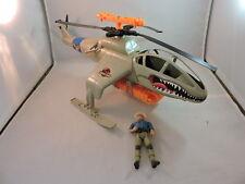 Vintage 1993 Jurassic Park Capture Copter, incomplete, good condition, w figure